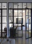 Porte intérieure vitrée noire