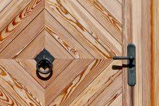Porte d'entrée en bois stratifié