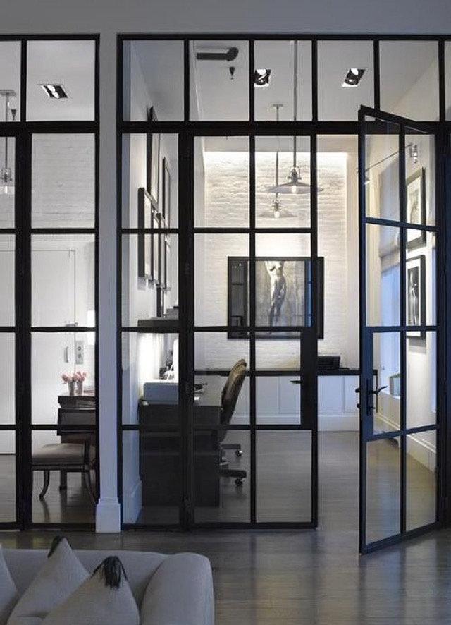 Porte-intérieure-double-battant-vitrée - Copaero